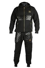 hoodie designer mens designer quilted tracksuit set joggers and zip hoodie in