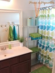 Win Bathroom Makeover - check out the kids u0027 teal and grass green bathroom makeover