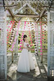 wedding backdrop garland handmade tissue paper flower hanging garland photo booth