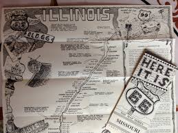 Route 66 Illinois Map by Peterbrownroute66 Planning Stage
