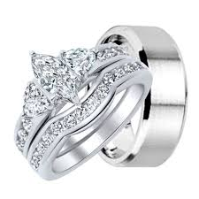 wedding rings his hers his and hers wedding rings his hers cz wedding ring set sterling
