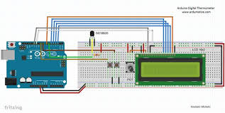 arduino digital thermometer with ds18b20 5 steps