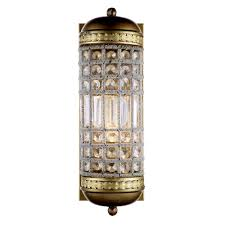 Crystal Wall Sconce elegant lighting olivia 1 light french gold royal cut crystal wall