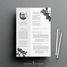 creative cv template for ms word resume instant digital