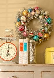 blue eyed yonder diy vintage ornament wreath vintage event