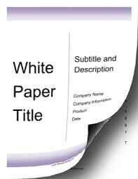 white paper report template white paper template report template