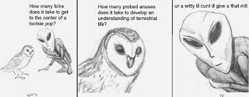 Art School Owl Meme - owl vs alien imgur