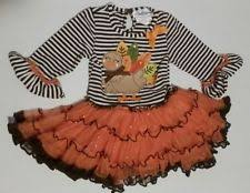 editions fall turkey thanksgiving dress sz 6 tulle tutu brown