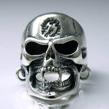 male rings design images Japan gothic jewelry skeleton head wearing earrings 925 sterling jpg
