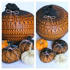 diy stocking covered pumpkins sweethaute