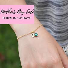 s day bracelet with birthstones birth bracelet etsy
