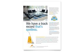 commercial cleaning brochure templates janitorial office cleaning flyer template design