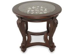 Ashley Furniture End Tables Ashley Norcastle Round End Table Mathis Brothers Furniture