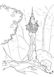 rapunzel u0027s tower coloring free printable coloring pages