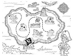 picture pirate treasure maps coloring pages bulk color