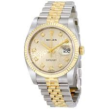 golden ferrari with diamonds rolex oyster perpetual datejust 36 silver with 10 diamonds dial