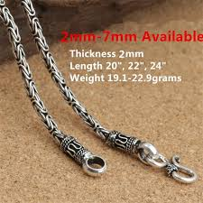 mens silver byzantine necklace images Sterling silver byzantine chains 925 silver mens chains hook clasp jpg