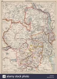 Zambia Map Rhodesia Goldfields Yellow Zambesia Zambia Malawi Zimbabwe