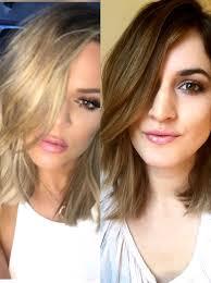 how to khloe kardashian lob hairstyle youtube