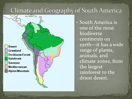 america climate zones map continent of diversity south america is the fourth largest