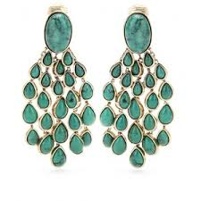 Turquoise Chandelier Earrings Polyvore Aurélie Bidermann Cherokee Clip On Chandelier Drop Earrings Polyvore