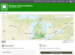 Michigan On Map Markers Located Throughout Michigan Share Snippets Of State U0027s Rich