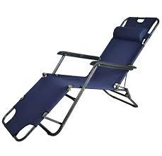 Reclining Chairs Kawachi Easy Folding Comfort Reclining Chair Blue In