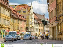 Bamberg Germany Map by Bamberg Street Germany Editorial Photo Image 54472611