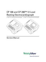 welchallyn cp 100 200 ecg service manual electrostatic