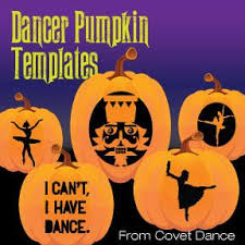 exclusive dancer pumpkin carving templates covet dance