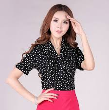 womens blouses for work summer 2015 fashion blouses sleeve porka dots