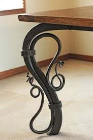 36 Inch Table Legs Best 25 Wrought Iron Table Legs Ideas On Pinterest Diy Metal