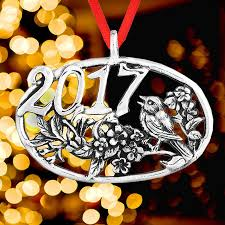 bird ornament 2017 and hammer ornaments sterling silver