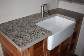 troff sinks bathroom rectangle white concrete sink and steel faucet above brown wooden