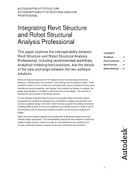 linking revit structure models with robot structural analysis