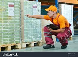 Laminate Flooring Prices Builders Warehouse Young Worker Man Uniform Warehouse Checking Stock Photo 80261674