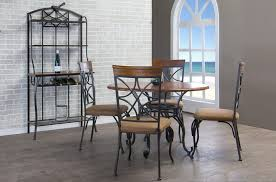 baker dining room chairs baxton studio ibiza wood and metal 6 piece contemporary dining set
