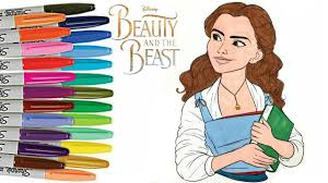 beauty beast emma watson belle coloring book