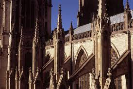 free stock photo of architectural detail of a minster