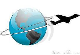 travel around the world earth airplane