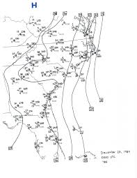 Surface Weather Map Christmas Coastal Snowstorm December 22 24 1989