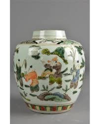 19th c chinese famille verte ginger jar kangxi