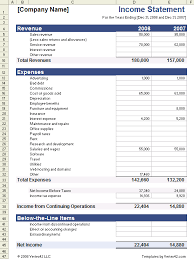 Simple Profit And Loss Excel Template Income Statement Template For Excel