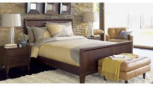 Steppe Queen Bed Crate And Barrel - Crate and barrel bedroom furniture