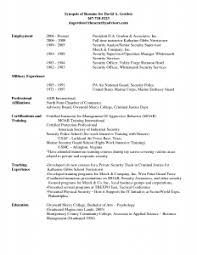 security guard resume exle security resume with no experience sles exles