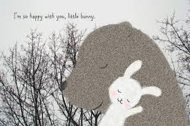 bear bunny print love illustration print bear rabbit woodland