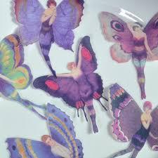 edible purple flapper fairies x12 l 1920 butterflies fairy wings