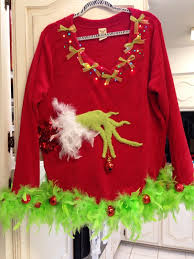 grinch christmas sweater 53 diy christmas sweater ideas