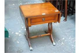 Yew Side Table Reproduction Mahogany Bedside Tables Small Drop Leaf Side Table