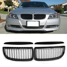 gloss black front kidney grille grill for bmw e90 320i 323i 328i